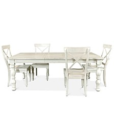 Aberdeen Expandable Dining 5-Pc. Set (Table & 4 Side Chairs)