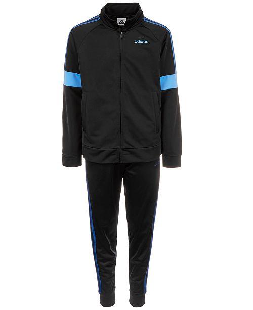adidas Big Boys Track Jacket & Tricot Jogger Pants
