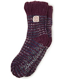 Space-Dye Textured Knit Flurry Slipper Sock, Online Only