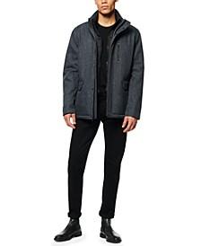 Men's Mullins Melange Tech Shell Mid Length Jacket with Bib