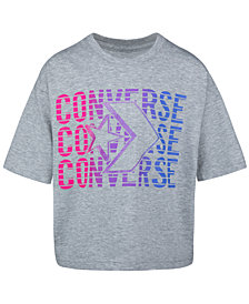 Converse Big Girls Cotton Logo-Print T-Shirt