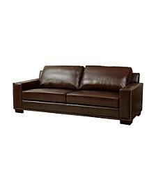 """Easton 90"""" Leather Sofa"""