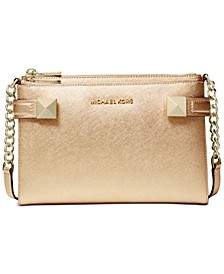 Karla Metallic Leather East West Crossbody