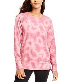 Tie-Dyed High-Low Hem Sweatshirt, Created for Macy's