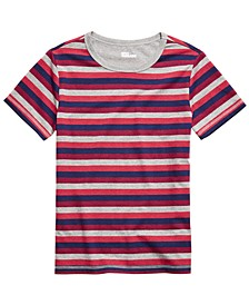 Big Boys Multi-Stripe T-Shirt, Created For Macy's