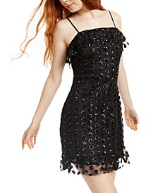 Juniors' Sequined Flounce Dress