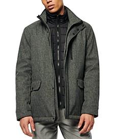 Men's Mullins Melange Tech Funnel Collar Jacket