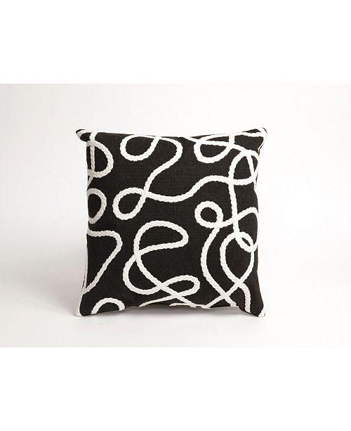 """Liora Manne Verve II Crochet Lasso Indoor, Outdoor Pillow - 18"""" Square"""
