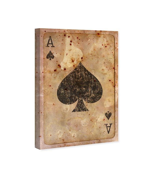 """Oliver Gal Ace of Spades Canvas Art, 16"""" x 24"""""""