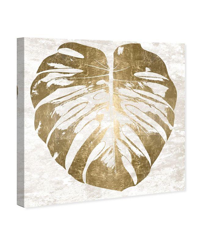 """Oliver Gal Monstera Gold Leaf Canvas Art, 36"""" x 36"""""""