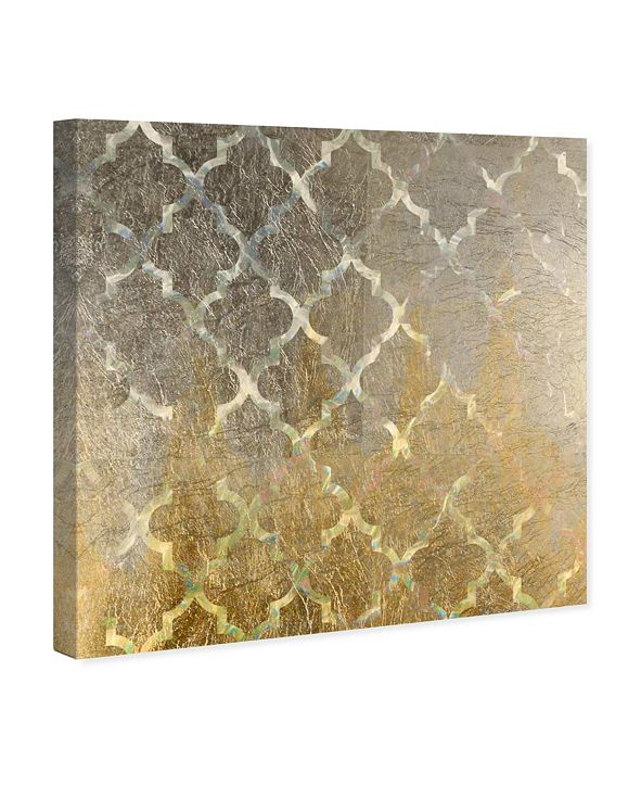 "Oliver Gal Arabesque Platinum Canvas Art, 43"" x 43"""
