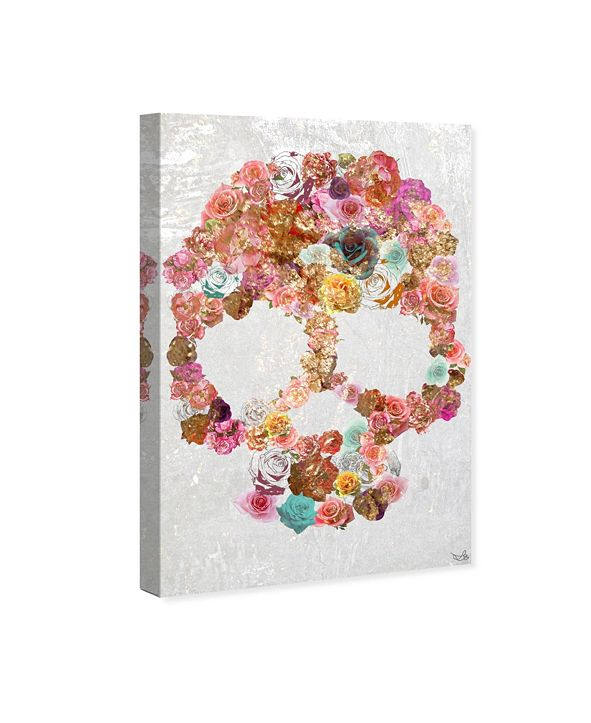 """Oliver Gal Skull of Roses Canvas Art, 16"""" x 24"""""""