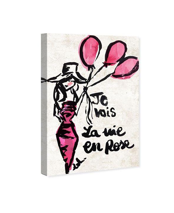 """Oliver Gal La Vie En Rose Canvas Art, 24"""" x 36"""""""