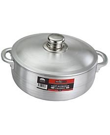 Kitchen Sense Heavy Gauge Polished Aluminum Caldero Dutch Oven Cauldron with Aluminum Lid and Stainless Steel Knobs