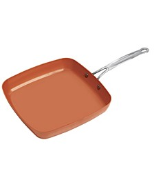 Kitchen Sense Copper Non-Stick Fry Pan with Wide Edge