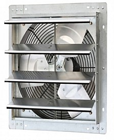 "16"" Variable Speed Shutter Exhaust Fan, Wall-Mounted"