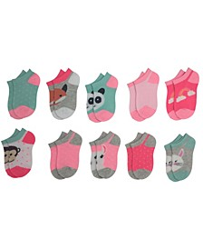 Toddler Girl's 10-Pack Unicorn No Show Cushion Socks