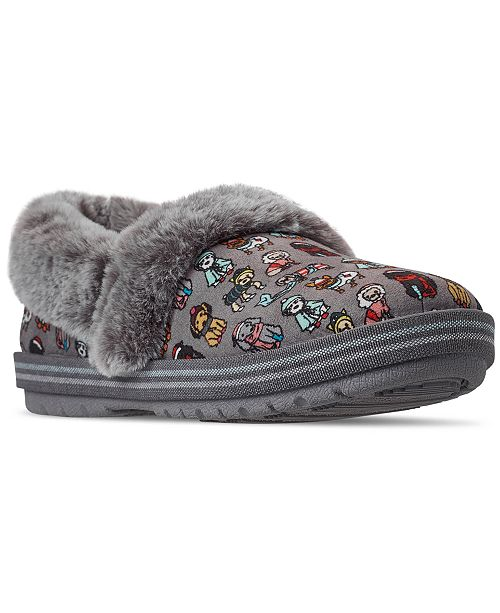 Skechers Women's BOBS Too Cozy Winter Wags Slipper Shoes from Finish Line