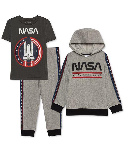 Jem Toddler Boys 3-Pc. NASA Hoodie, T-Shirt & Joggers Set