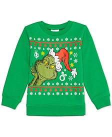 Little Boys The Grinch Peek A Boo Holiday Sweatshirt