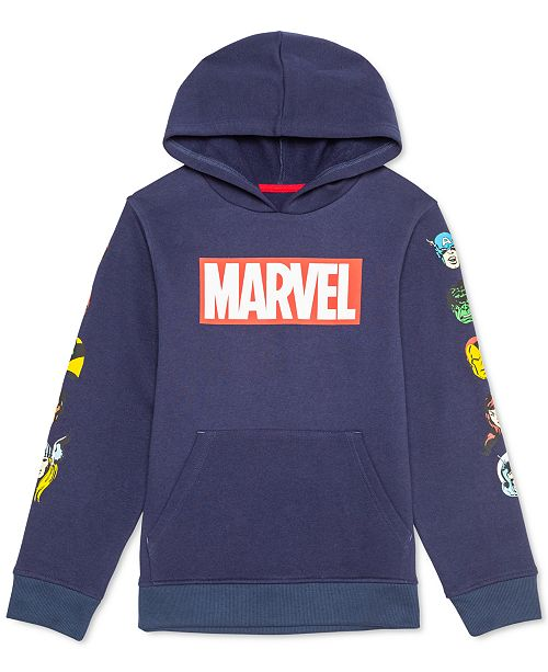 Marvel Big Boys Hero Heads Hoodie