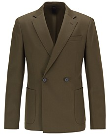 BOSS Men's Double-Breasted Slim-Fit Jacket