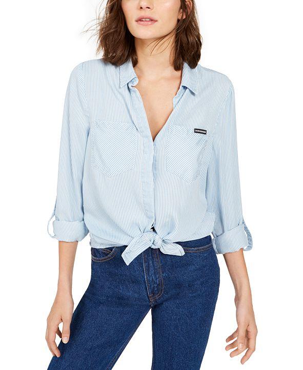 Calvin Klein Jeans Tencel Split-Back Button-Down Shirt