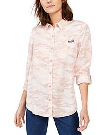 Tencel Camo Button-Down Shirt