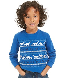 Toddler Boys Dinosaur-Print Thermal T-Shirt, Created For Macy's