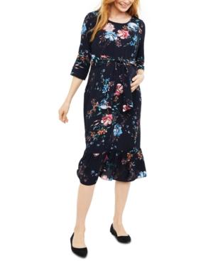 Isabella Oliver Maternity Printed Midi Dress