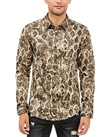 Men's Luxe Viper Print Shirt