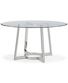 "Bowen 54"" Glass Top Round Dining Table"