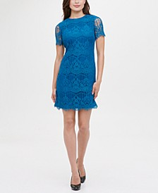 Scallop Lace Sheath Dress