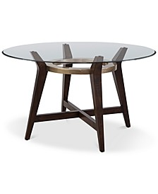"Elston 54"" Glass Top Round Dining Table"
