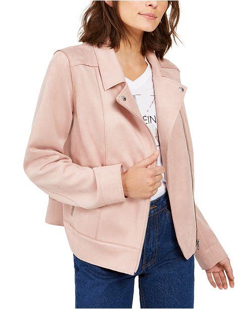 Calvin Klein Jeans Faux-Suede Moto Jacket