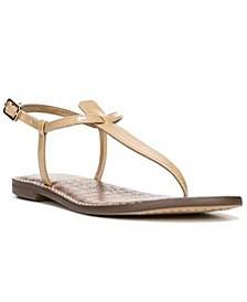 Gigi T-Strap Flat Sandals
