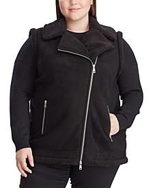 Plus Size Shearling-Trim Vest
