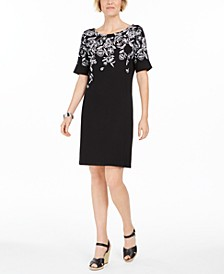 Plus Size Floral-Print Dress, Created for Macy's