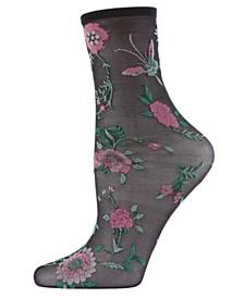 Natori Mariposa Sheer Anklet Socks, Online Only