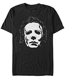 Halloween 2 Men's Michael Myers Big Face Mask Short Sleeve T-Shirt