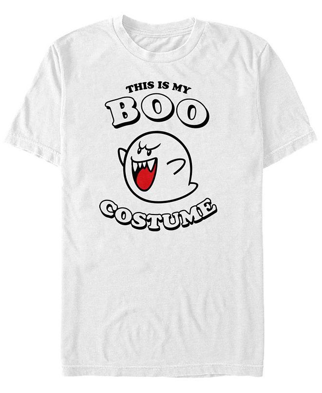 Fifth Sun Nintendo Men's Super Mario Boo Halloween Costume Short Sleeve T-Shirt
