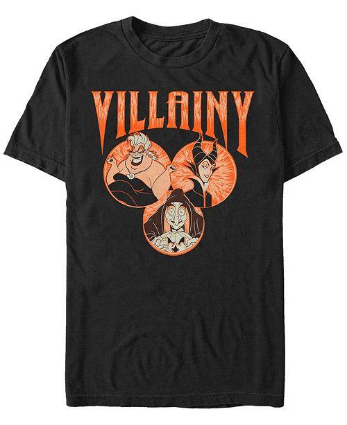 Fifth Sun Disney Villains Men's Portrait Bubbles Short Sleeve T-Shirt