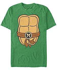 Nickelodeon Teenage Mutant Ninja Turtles Michael Angelo Chest Costume Short Sleeve T-Shirt