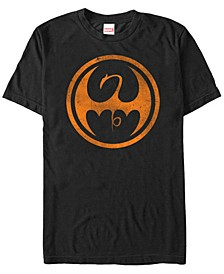 Marvel Men's Iron Fist Distressed Orange Logo Short Sleeve T-Shirt