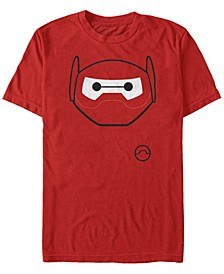 Disney Men's Big Hero 6 Baymax Mask Big Face Costume Short Sleeve T-Shirt Short Sleeve T-Shirt