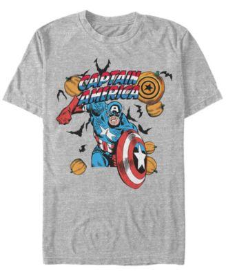 Captain Shield Silver Tshirt Captain America Marvel