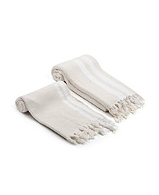 Pamuk Natural Turkish Bath and Hand Towel 2 Piece Set