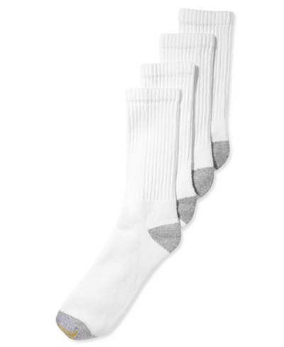 Gold Toe Men's Socks, Athletic Cushioned Crew 4 Pack, Created for Macy's