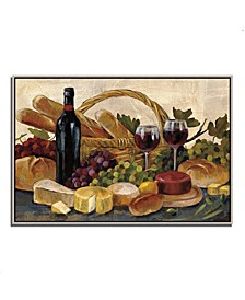 "Tuscan Evening Wine by Silvia Vassileva Fine Art Giclee Print on Gallery Wrap Canvas, 47"" x 32"""