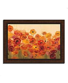 """Summer Poppies by Silvia Vassileva Framed Painting Print, 42"""" x 30"""""""